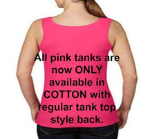 Women's Squeeze a Boob Save s LiF TANK TOP PINK