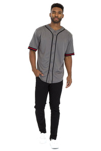 TAPED BASEBALL JERSEY- GREY