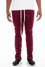 SIMPLE TRACK PANTS- BURGUNDY