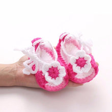 Load image into Gallery viewer, Baby Girl Shoes Handmade Crochet Crib Casual Baby