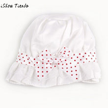 Load image into Gallery viewer, Baby Hat Big Bongrace Sun Hat Stylish Dot Bowknot