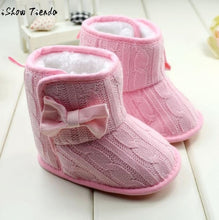 Load image into Gallery viewer, Baby Shoes Cute Bowknot Firstwalker Solid Hook