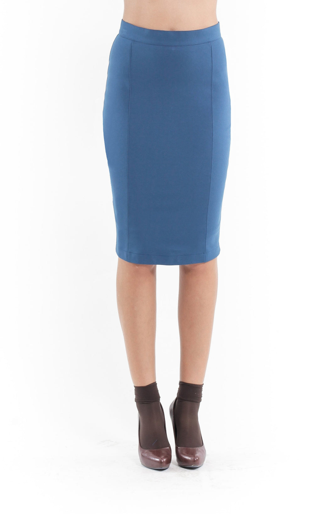 Stretch Pencil Skirt petrol