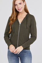 Load image into Gallery viewer, Olive - Long Sleeve French Terry Jacket