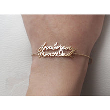 Custom Double Name Bracelet Rose Gold Color