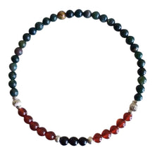 Load image into Gallery viewer, Energy & Grounding - Bloodstone, Carnelian & Black
