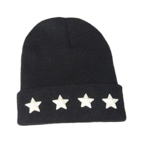 Fashion Baby Hat Five-pointed Star Shape Rivet