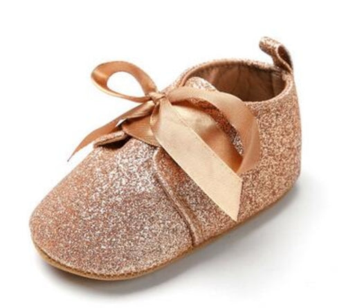 Glitter baby Girls shoes First walkers Crib shoes