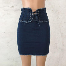 Load image into Gallery viewer, Blue Jeans Women Mini Pencil Denim Skirt