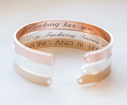 Secret Message Engraved Bracelet, Personalized