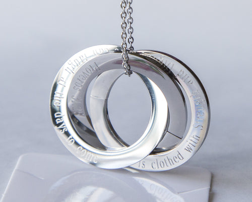 Personalized Scripture Rings Necklace, Custom
