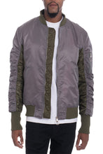 Load image into Gallery viewer, TWO TONE BOMBER- GREY