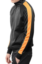 Load image into Gallery viewer, PORT TRACK JACKET- BLACK/ORANGE