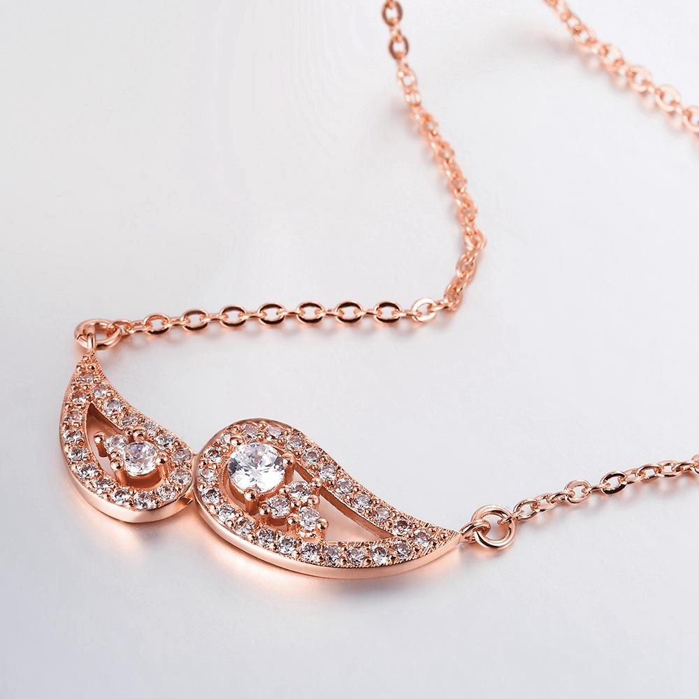 Agrigento Necklace in 18K Rose Gold Plated with Swarovski Crystals