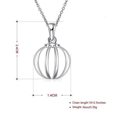 Beach Ball Necklace in 18K White Gold Plated