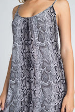 Load image into Gallery viewer, Women's Snakeskin Print Maxi Tank Dress