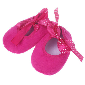 New arrival Kids Baby shoes cute Bowknot Solid