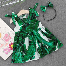 Load image into Gallery viewer, New summer dress Toddler Kids Baby Girls Leaves