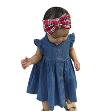 New summer dress Toddler Kids Baby Girls Solid