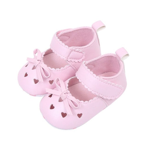 Newborn Infant Baby Girls Crib Shoes Soft Sole