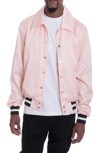 LUXE SATIN BOMBER- PINK