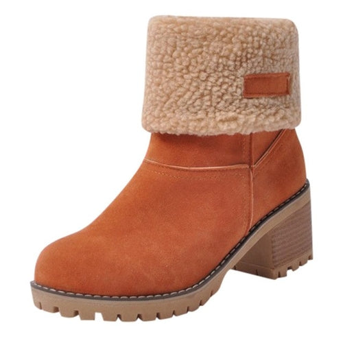Plus Size Martin Snow Boots Short Bootie Footwear