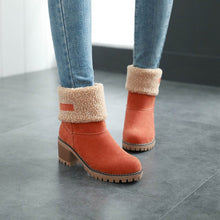 Load image into Gallery viewer, Plus Size Martin Snow Boots Short Bootie Footwear