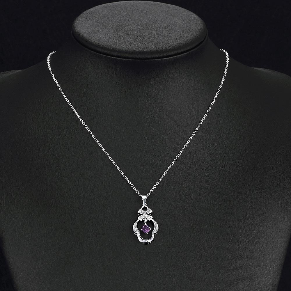 Bondy Necklace in 18K White Gold Plated made with Swarovski Crystals