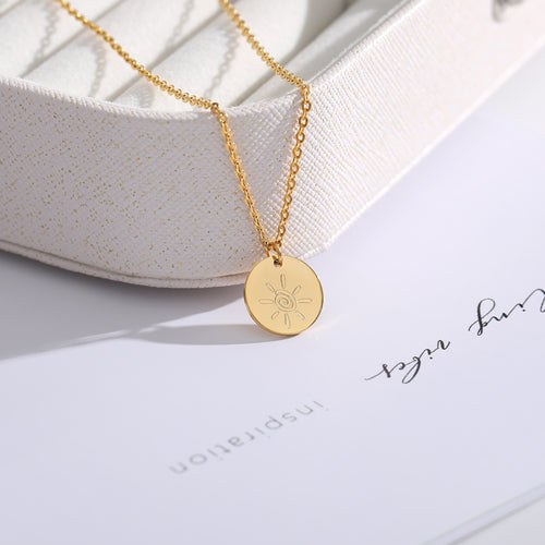 Stainless Steel Coin Disc Necklace Women Choker