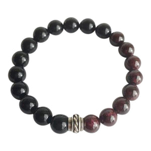 Strength & Confidence - Black Onyx and Garnet
