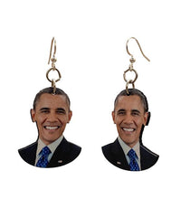 Load image into Gallery viewer, Barack Obama Earrings #T077