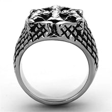 Load image into Gallery viewer, Men Stainless Steel Synthetic Crystal Rings TK1351