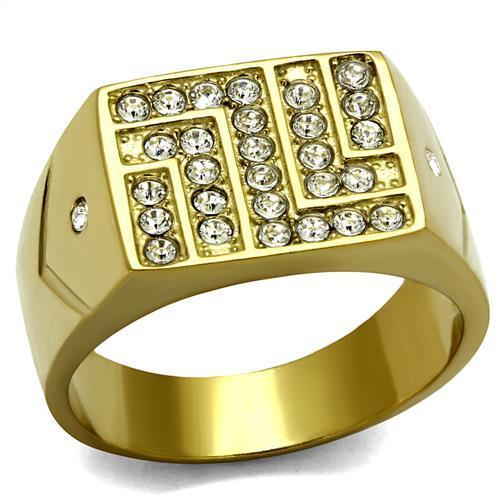 Men Stainless Steel Synthetic Crystal Rings TK2311