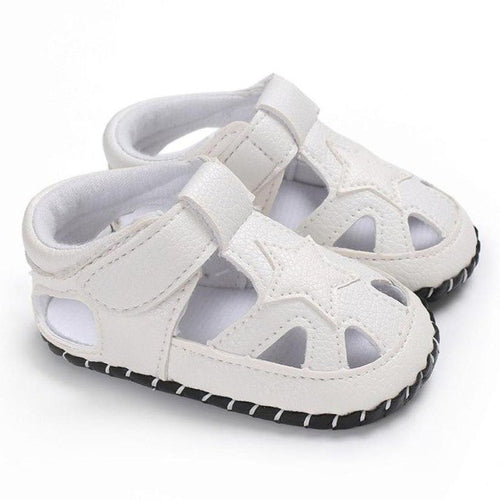Toddler Boy Star Crib Shoes Newborn Soft Sole