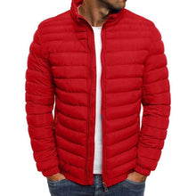 Load image into Gallery viewer, Trendy Rhombus Winter Jackets Men O Neck Zipper