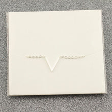Women Simple Chevron V Shaped Necklace Stainless