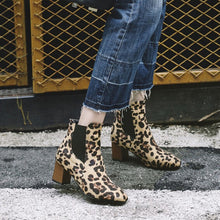Load image into Gallery viewer, Women's Snow Boots Leopard-Printed Shoes Fashion