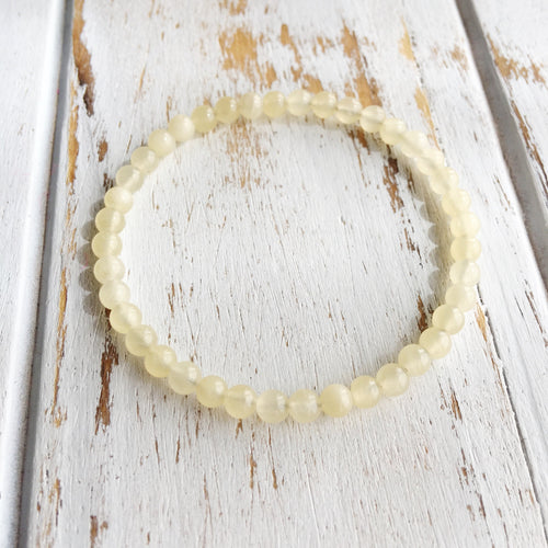 4mm Yellow Calcite Bracelet
