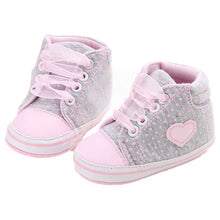 baby girl shoes Canvas Shoe Heart shape first walk