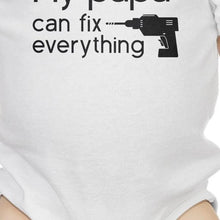 My Papa Fix White Cute Baby Bodysuit Cute Gifts