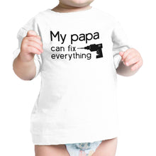 My Papa Fix White Cute Graphic Infant T-Shirt