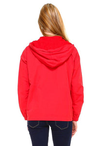 Hooded Zip Front Windbreaker