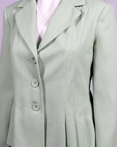 Danillo Sage Green Twill Skirt Suit Sett