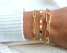 Gold Filled Coin Chain Bracelet