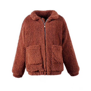 Winter Lambswool Thick Jacket Winter Women