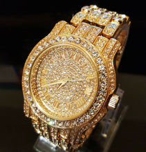 Pave Iced Out Roman Numeral Hip Hop Watch