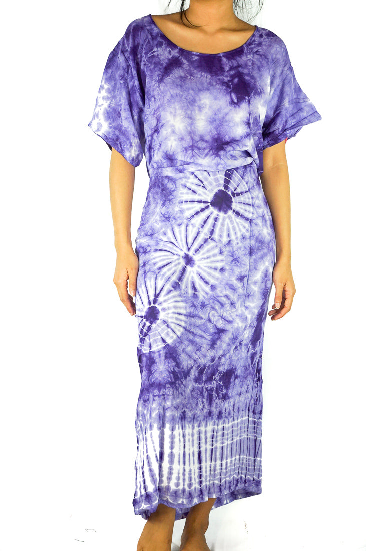 Tie Dye Maxi Dress, Boho Kaftan, Hippie Dress