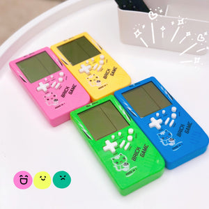 Retro Childhood Tetris Handheld Game Player Pink