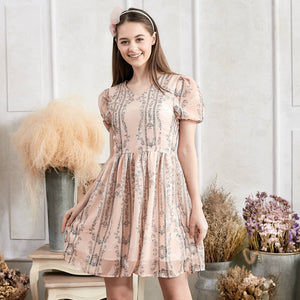 Floral Fit & Flare Dress (woman)