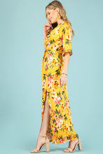 Load image into Gallery viewer, Floral print maxi dress with center bodice twist. 1288